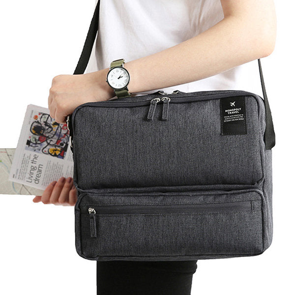 Women Men Unisex Outdoor Large Capacity Functional Shoulder Bag Crossbody Bag