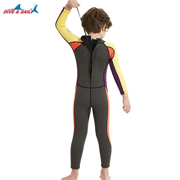 Boys 2.5mm Wetsuit Long Sleeve UV Protection Thermal Swimwear