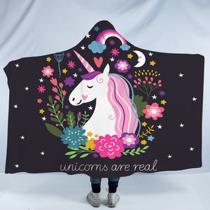 Unicorns Are Real Hooded Blanket - 2 Sizes - My Diva Baby