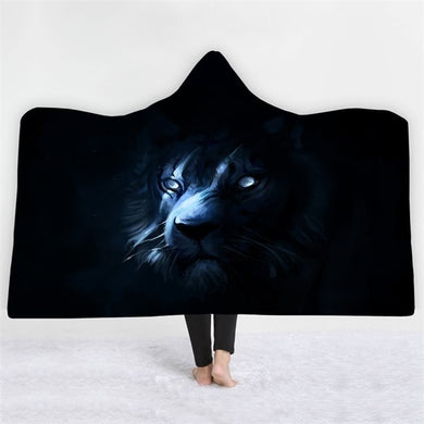 Shadow Tiger Hooded Blanket - 2 sizes - My Diva Baby
