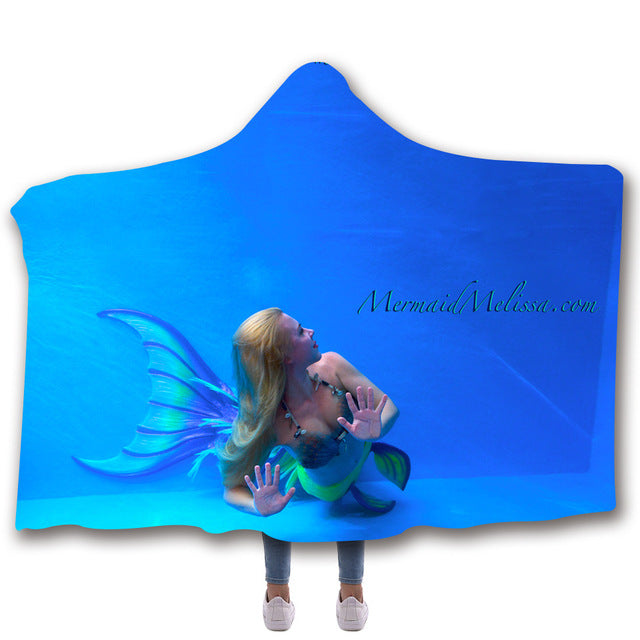 Mermaid #27 - Hooded Blanket - 2 sizes