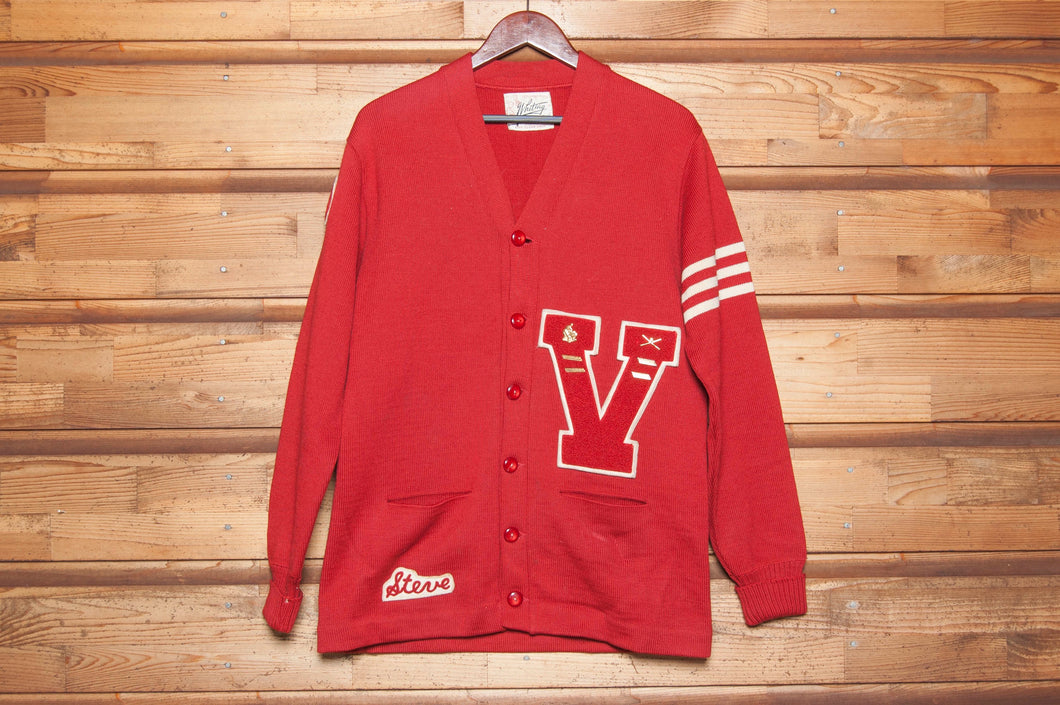 1950s Whiting Wool Varsity Cardigan - C.G. Harrison & Co