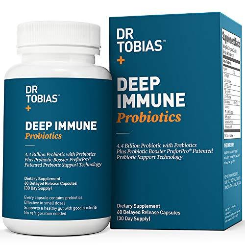 Dr Tobias Deep Immune Probiotic - Plus Ultimate Prebiotic (Patented) - Shelf Stable - 60 ct.