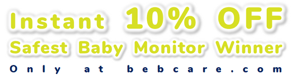 10% OFF instantly from the Bebcare iQ award-winning baby monitor