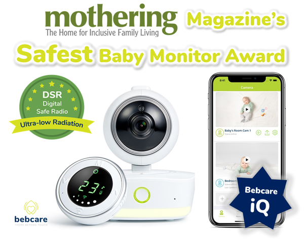 Bebcare winning Mothering Magazine safest baby monitor award