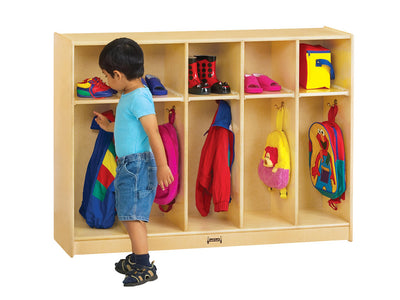 TODDLER COAT LOCKER - 5 SECTIONS by Jonti Craft