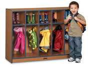 SPROUTZ® TODDLER COAT LOCKER - 5 SECTIONS - BLACK by Jonti Craft