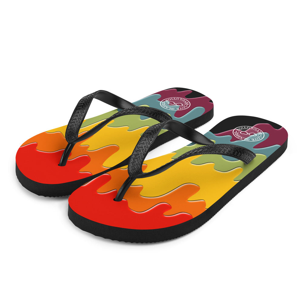 Paint Drip by Darian Collection Flip-Flops
