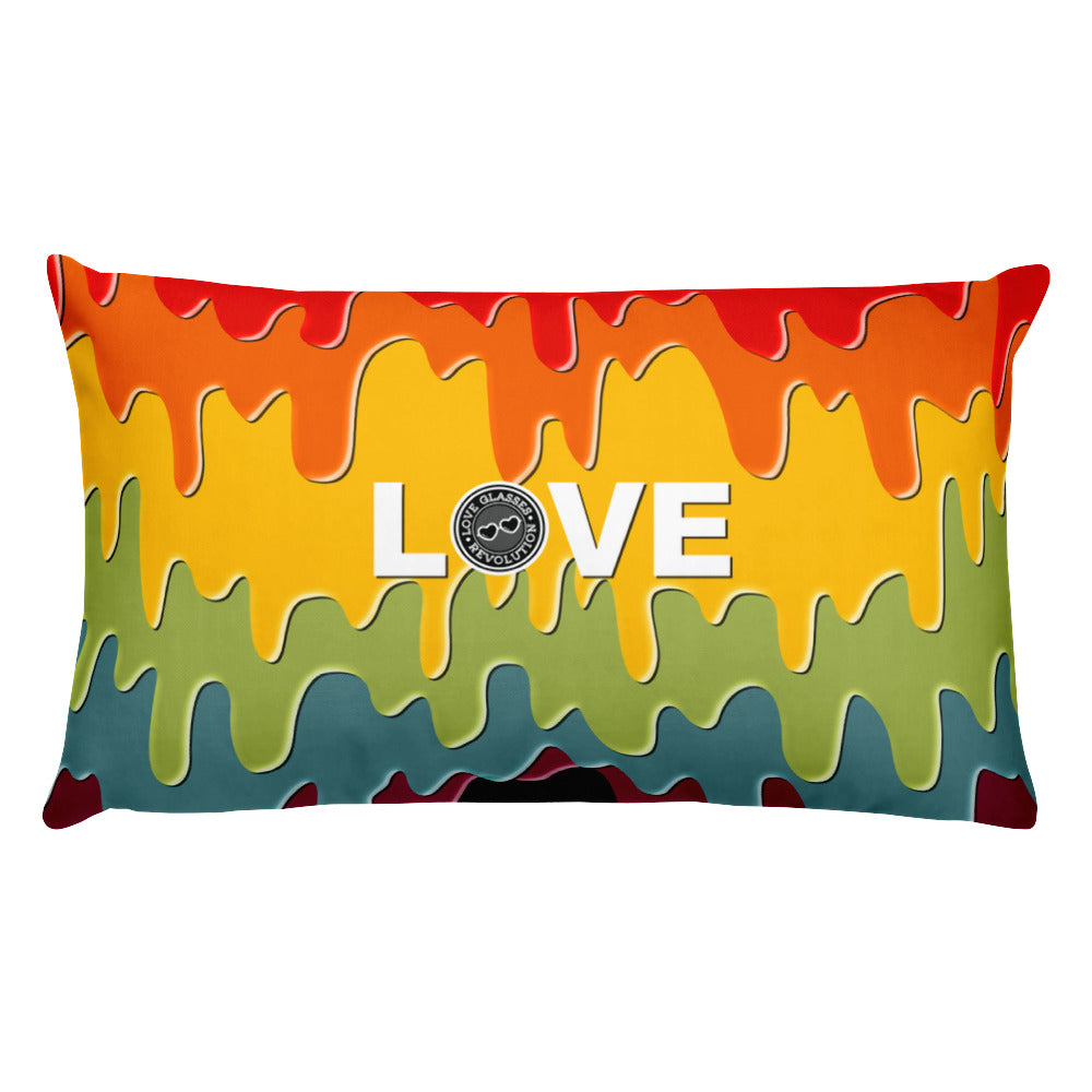 Paint Drip by Darian Collection LOVE logo Pillow!