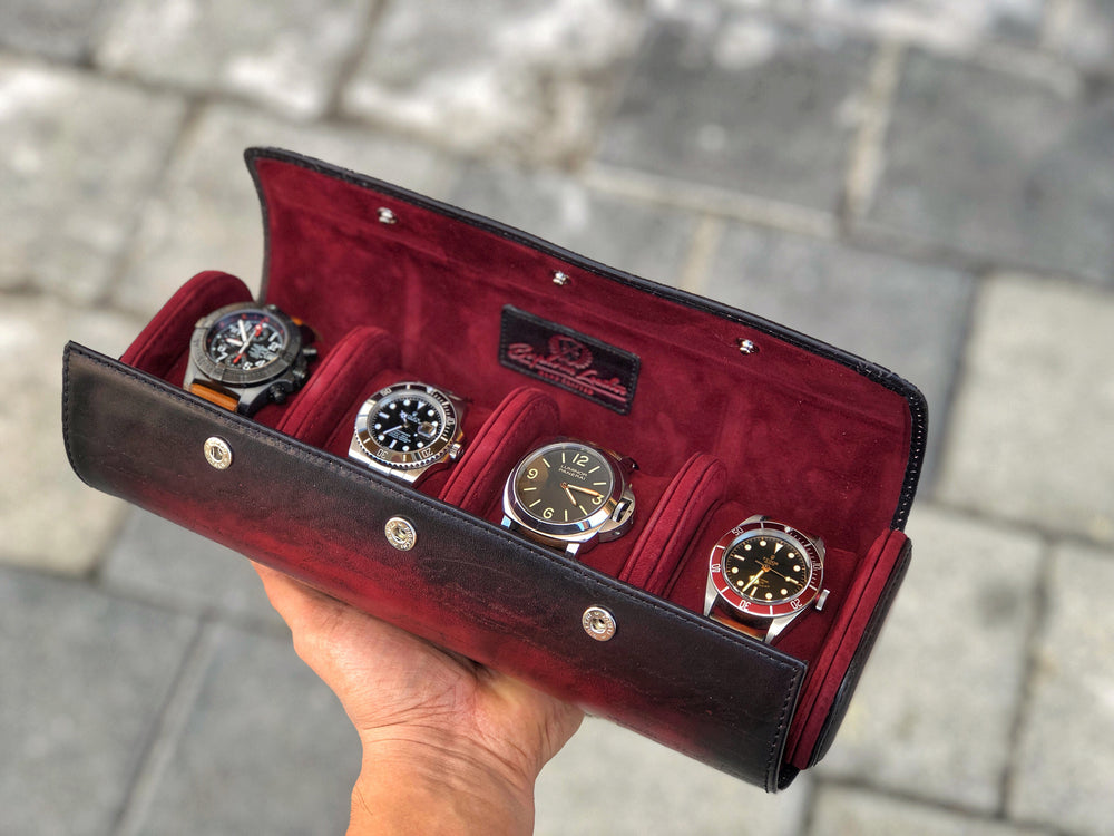 Galata Scripto Patina Red for Four Watches
