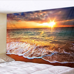 Sunlight Beach Printed Decorative Wall Tapestry
