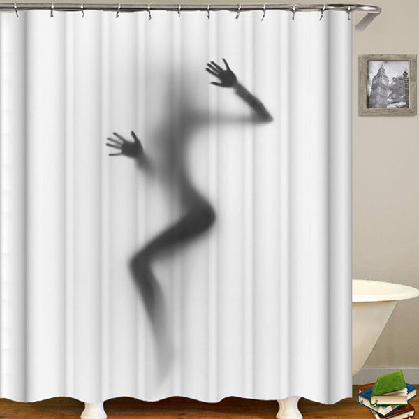 High Quality Waterproof Women Shadow Shower Curtain with Hooks Sexy Girl Portrait Bathroom Curtains for Home Decorations
