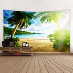 Sunshine Coconut Trees Pattern Tapestry