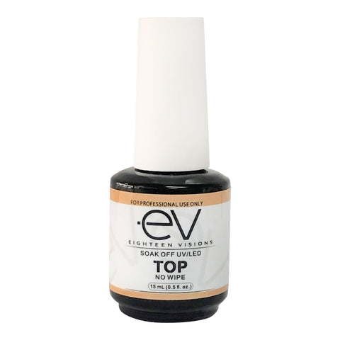 EV GEL Top Coat NO WIPE, UV/LED Cure