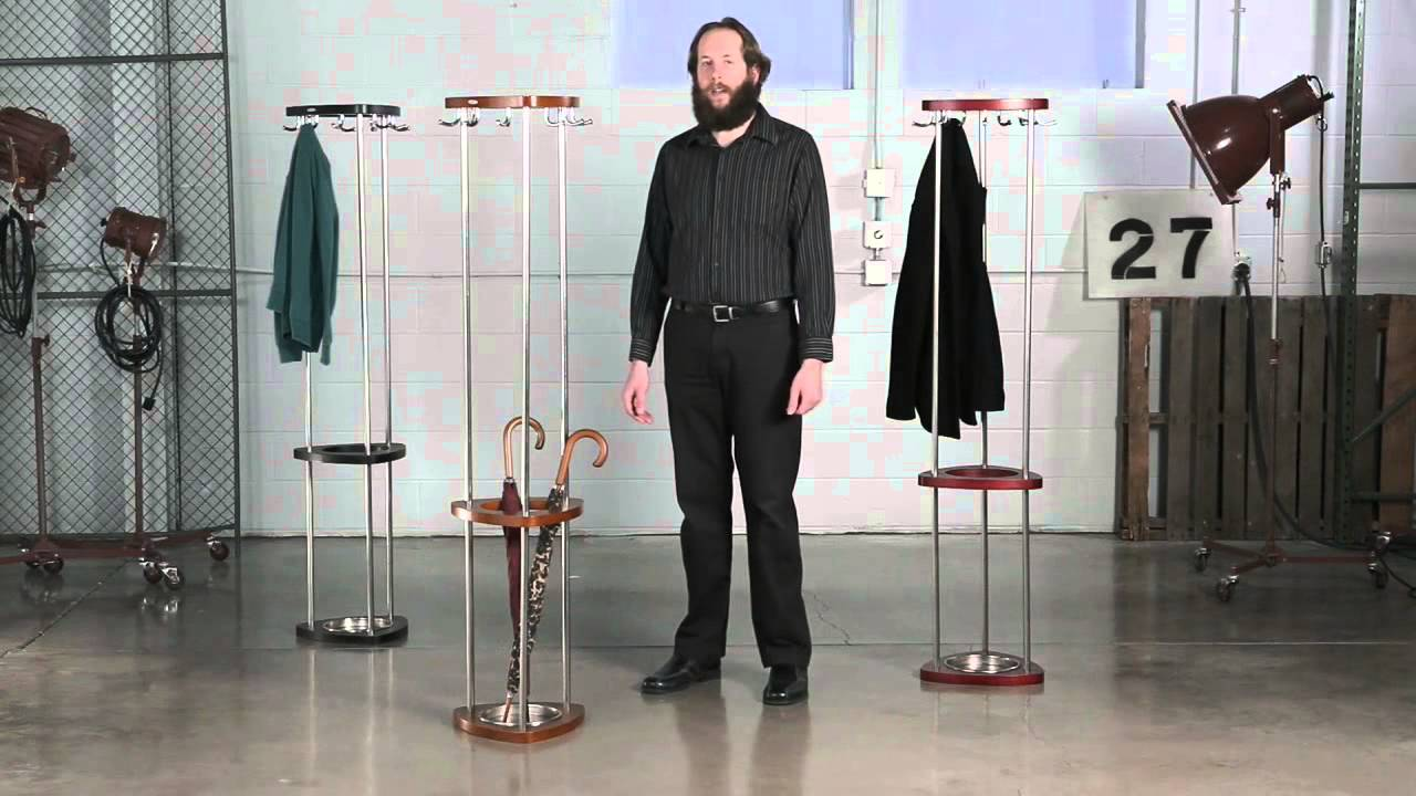 Stylish design offers organization for garments and umbrellas