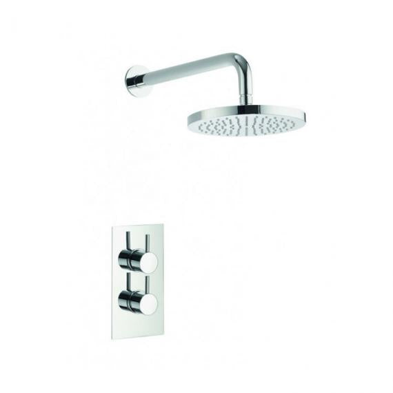 Pura Arco Single Outlet Shower Valve and 200mm Fixed Shower Head