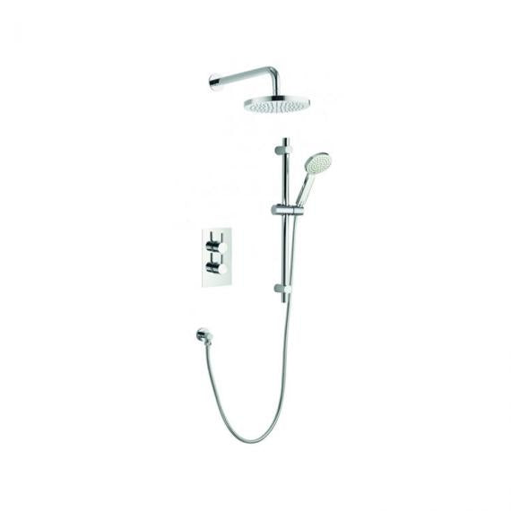 Pura Arco Two Way Diverter Valve with Fixed Shower Head & Slide Rail Kit