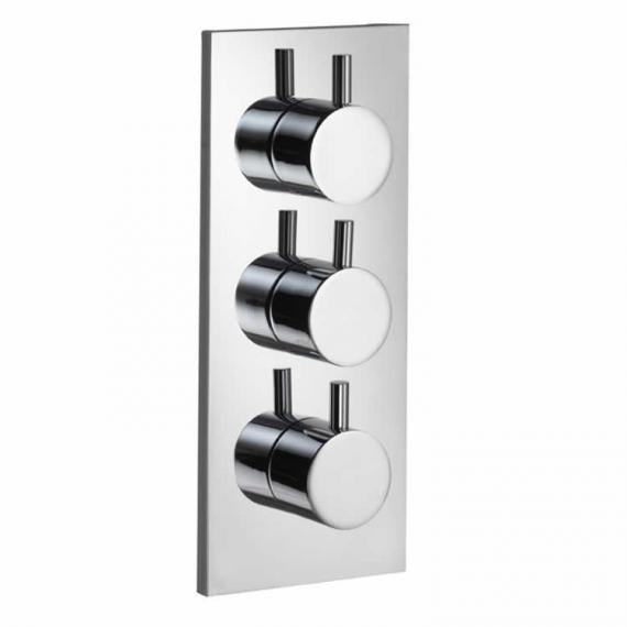 Pura Ivo Flow+ Twin Outlet Thermostatic Shower Valve