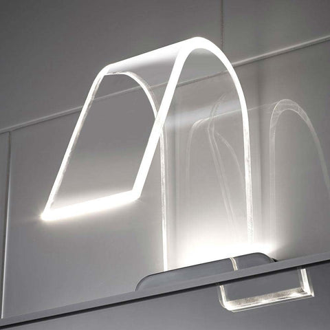 Hudson Reed Cascade Curved Acrylic LED Over Mirror Light
