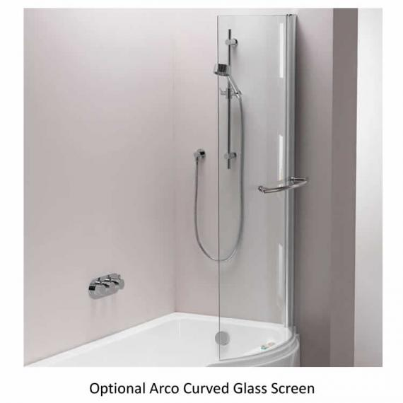 Pura Arco 1700mm Left Hand Shower Bath