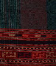 Load image into Gallery viewer, HANDWOVEN GREEN SHWAL SHEEP WOOL CHASM STRIPE : HP