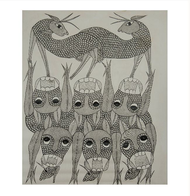 GOND CANVAS PAINTING