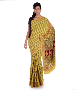 HAND BLOCK BAGH PRINT COTTON SAREE