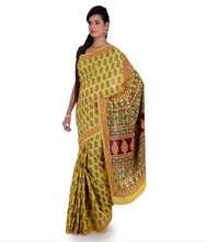 Load image into Gallery viewer, HAND BLOCK BAGH PRINT COTTON SAREE