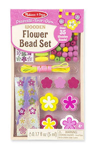 Melissa and Doug - Flower Wooden Bead Set