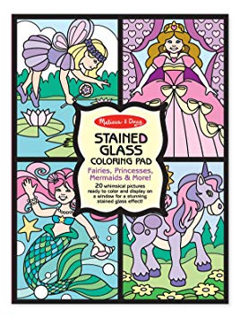 Melissa and Doug - Stained Glass - Fairies, Princesses, Mermaids & More