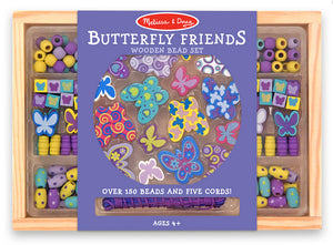 Melissa and Doug - Wooden Bead Set - Butterfly Friends