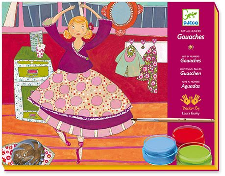 Djeco - Dancers Gouaches Painting Art Set