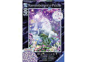 Ravensburger Puzzle -  Unicorn in Glittery Forest - 500 Pieces