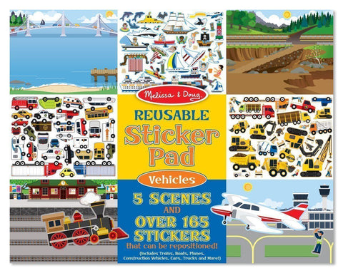 Melissa and Doug - Reusable Stickers - Vehicles