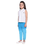 Raisa Blue Shirt & Pant Set for Girls