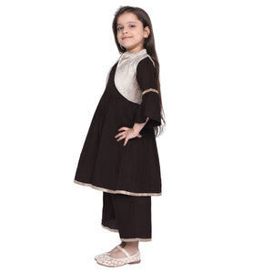 Percy1 Kurti & Palazzo with Shrug Set for kid Girls age 2-12 years