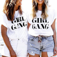 Large Letter Girl Gang T-shirt