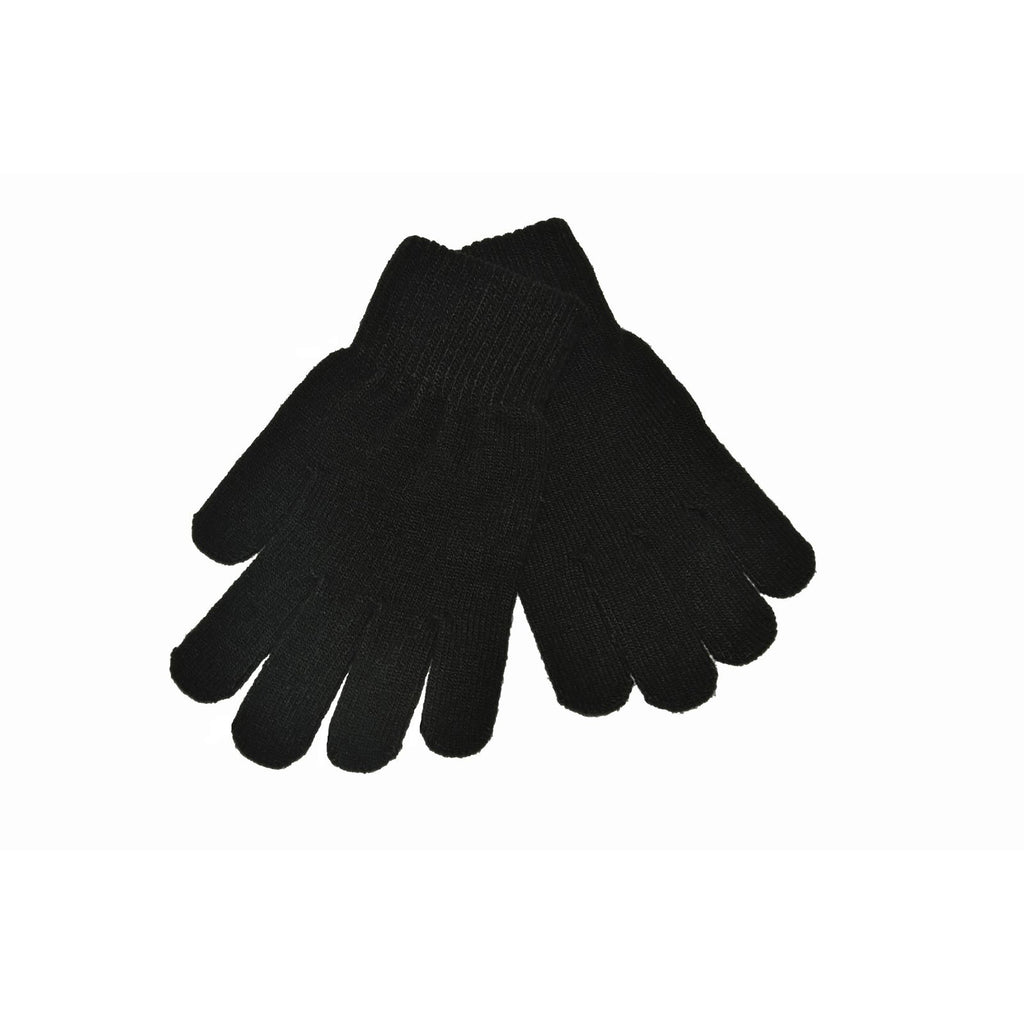 Black Knitted Gloves 'Stretch'