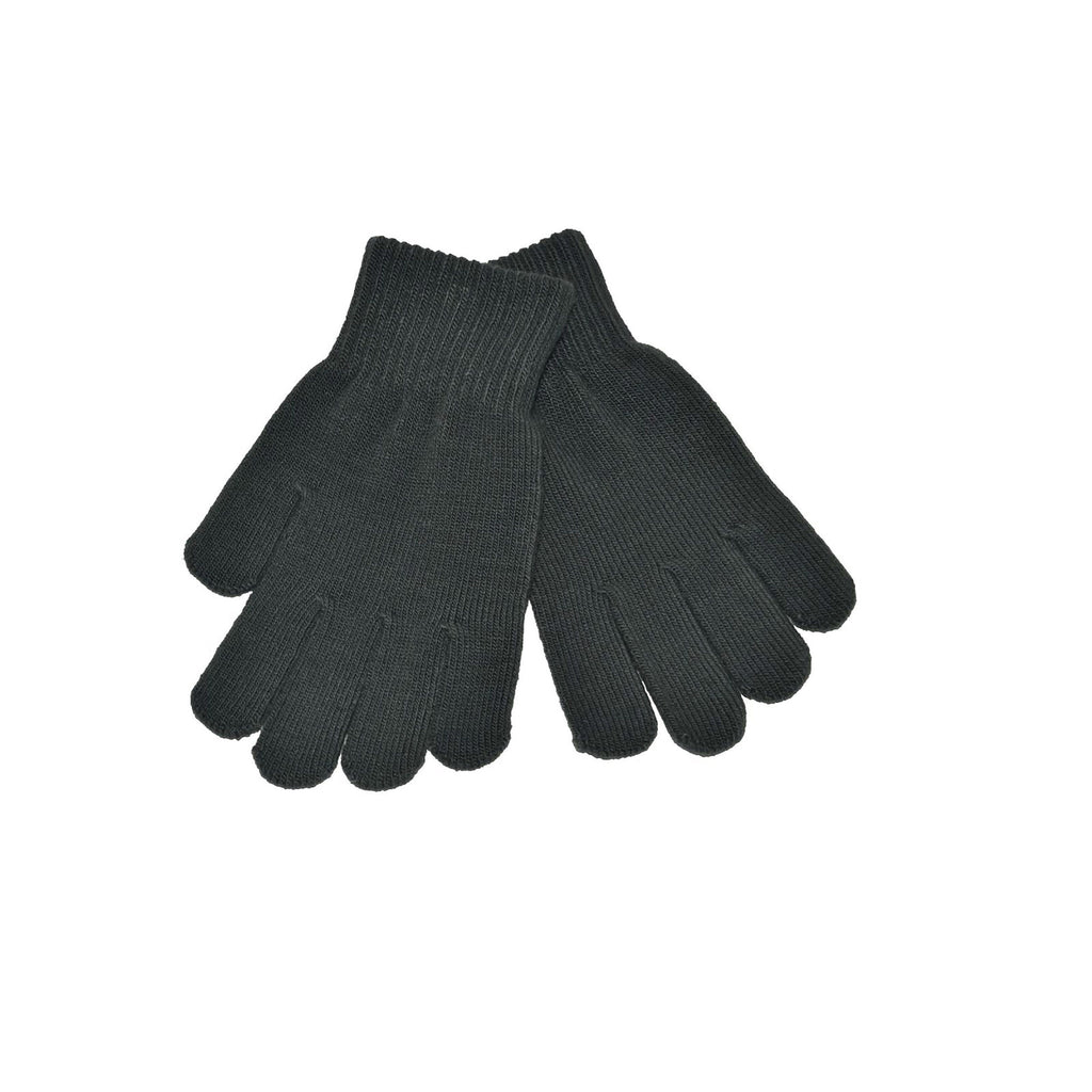 Grey Knitted Gloves 'Stretch'