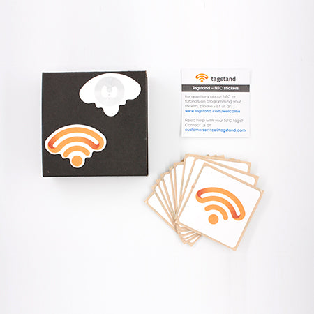 Shaped infinity logo NFC sticker 10-pack - NTAG213