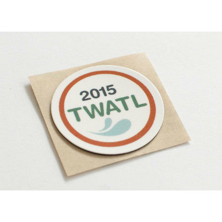 Trashwater Branded Outdoor Type 2 NFC Sticker - NTAG213 - On-metal - Circle (30mm)