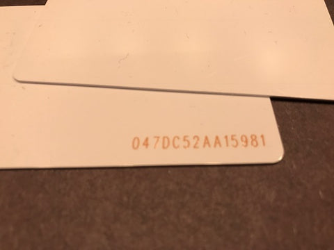 Ultralight EV1 NFC Card - UID printed