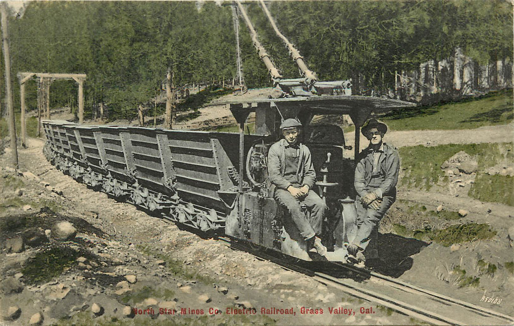 Grass Valley - CA - North Star Mines - ELECTRIC RAILROAD Engine- California