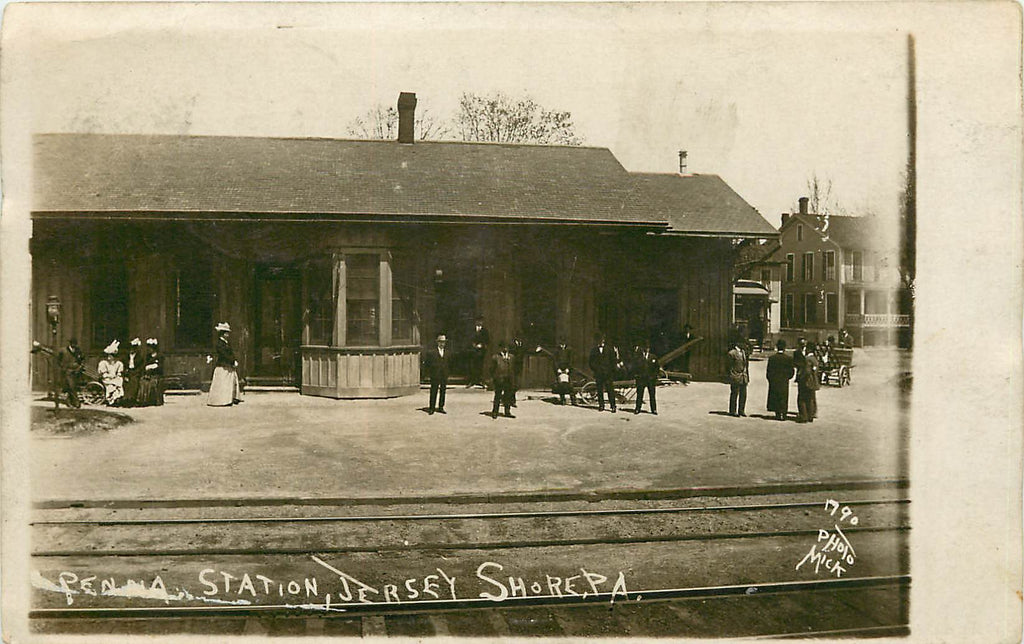 Jersey Shore - Penna Station - Train Depot - PRR - Antes Fort - Real Photograph