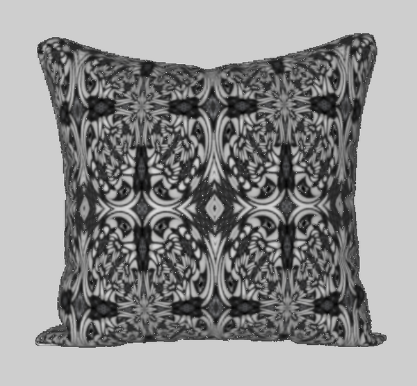 Black and White Tiger Swallowtail Pillow Case