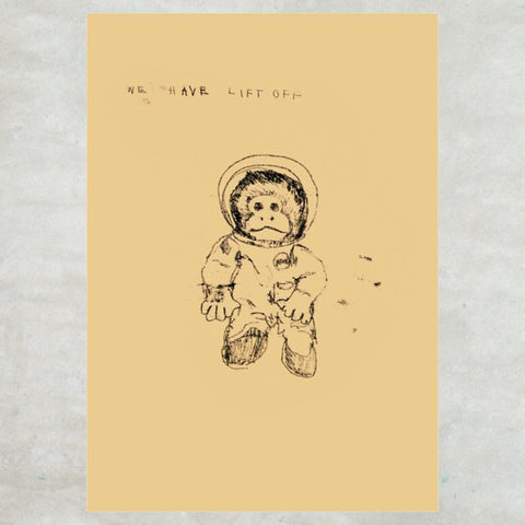Tracey Emin Greetings Card - Some People Have Children (Space Monkey) - Turner Contemporary Shop