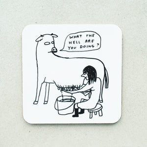 David Shrigley - What The Hell Coaster - Turner Contemporary Shop