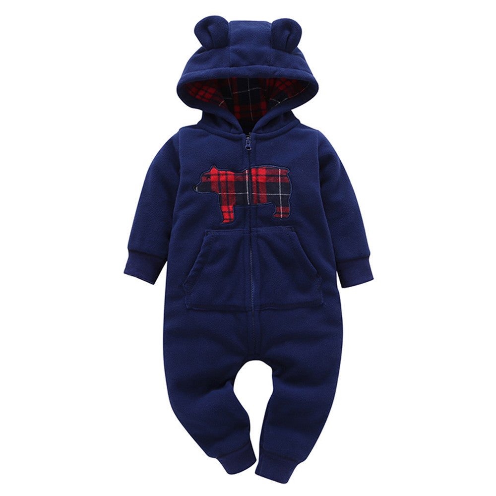 Hooded Fleece Winter Romper