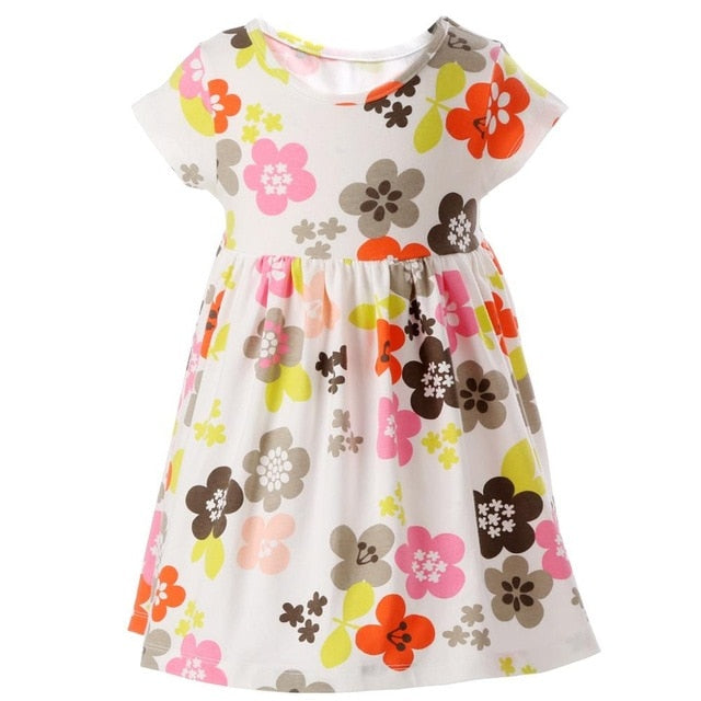 Vestidos Infantil Floral Children Girls Dress Beach