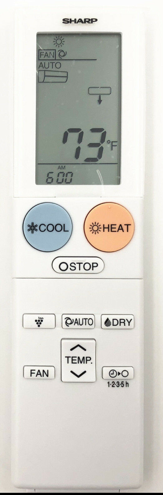 ORIGINAL SHARP AIR CONDITIONER REMOTE CONTROL  CRMC-A960JBEZ - AY-XP12THU AY-XP18THU